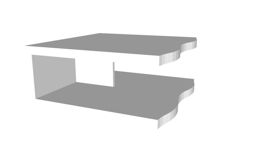 Mesa centro quadrada viena