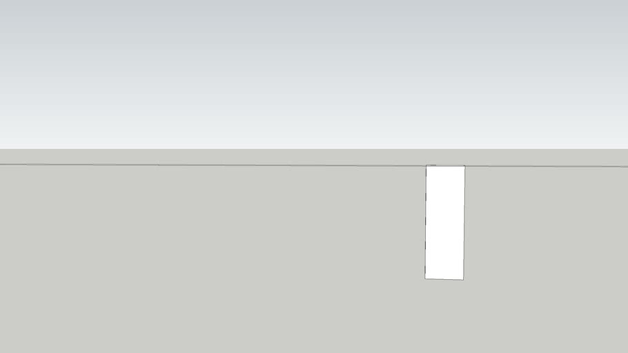 cabinet 3/4 back panel