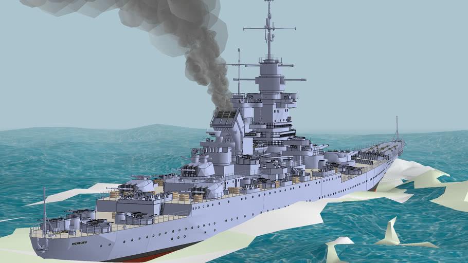 03 French battleship Richelieu, around 1950