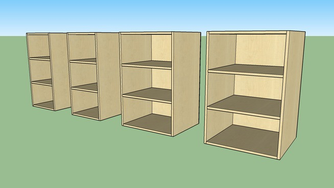 """Cabinets Plus - 2-shelfs_36""""H Uppers_160_18-24"""