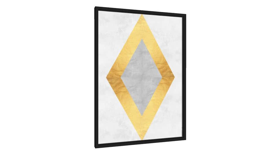 Quadro Losango dourado IV - Galeria9, por Arte Decor