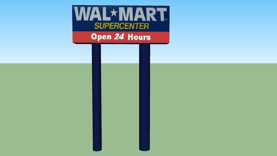 Walmart Supercenter Open 24 Hours Old Sign 4600 Mobile Hwy Pensacola Fl