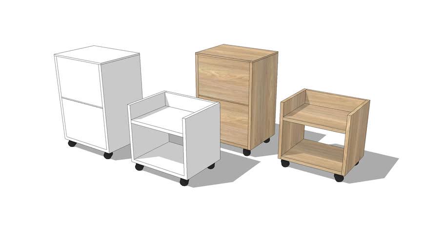 Under Desk Storage Cabinets On Casters, Under Desk Cabinets