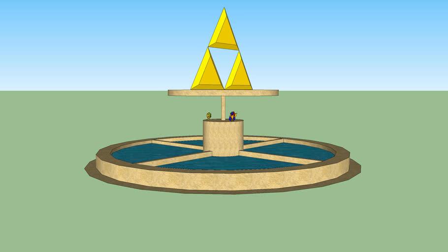 Fontaine triforce sacrée