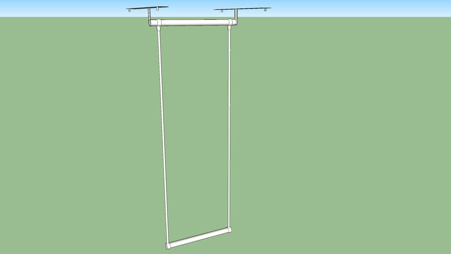IKEA LÄTTHAT clothes rail outside 35-60 x 40