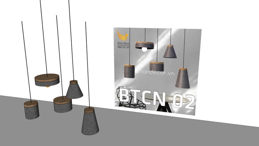 Đèn thả bê tông BTCN 02