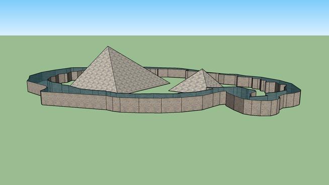 Piramids with water.