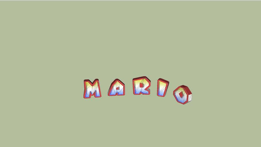 "GCN Mario Circuit - ""Mario"" Sign"