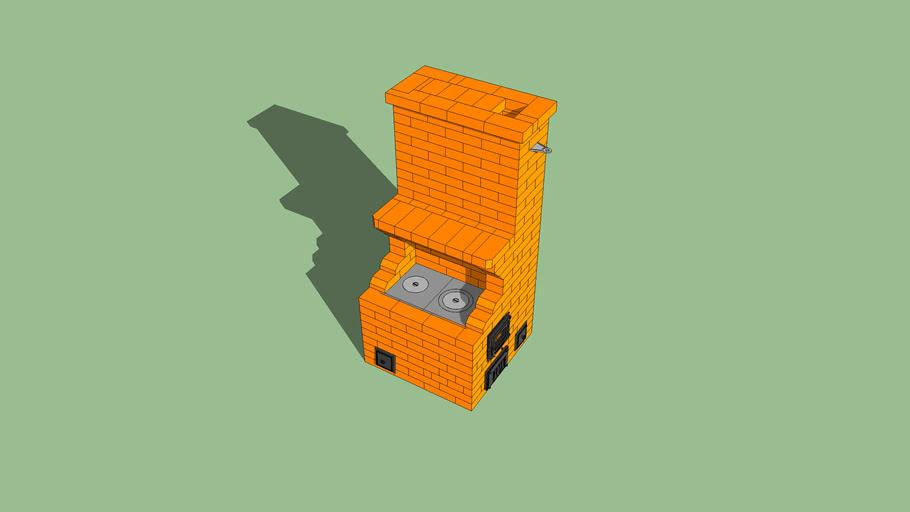 Masonry heater, печь, печка, печник, камин, мангал из кирпича, kachelofen, fireplace, pechnik-pech-kamin.ru