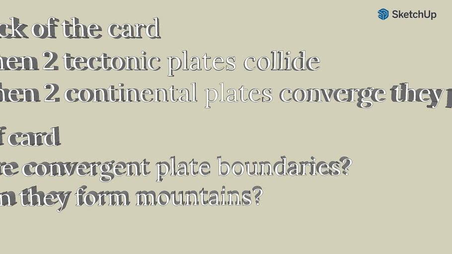 my sentence about tectonic plates