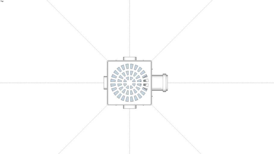 Caixa Sifonada Quadrada DN150x150x50 Cod.10363