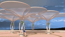 Multi-Domed Translucent Mesh Shade Canopy 16.12.13