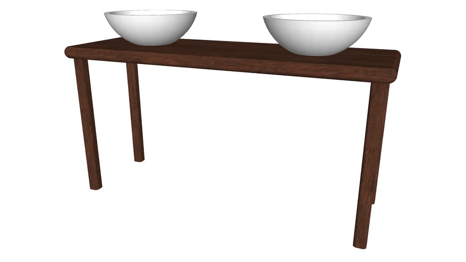 2 Modern Bowl Sinks on a Table - Detailed