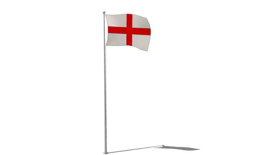 St. Georges Cross Flag on pole