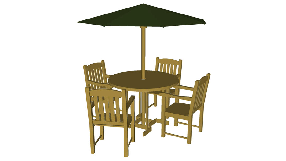 Teak table set