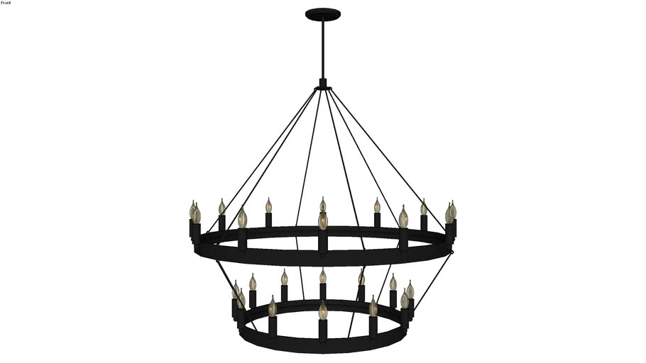 Camino two-tier chandelier