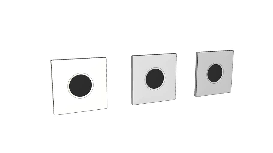 116.021 - Geberit urinal flush control with electronic flush actuation, mains operation, cover plate type 01