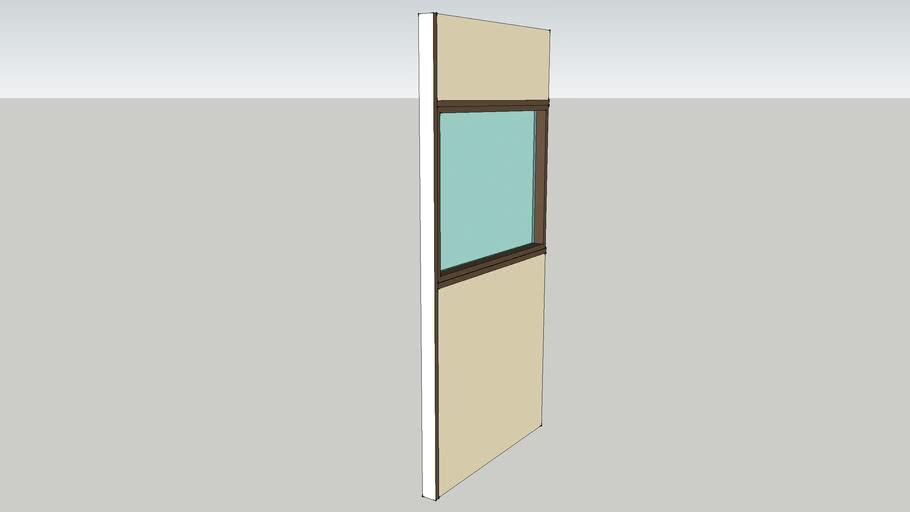 Apton centre glazed panel