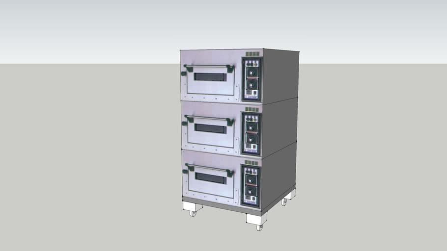 三層三板電烤箱