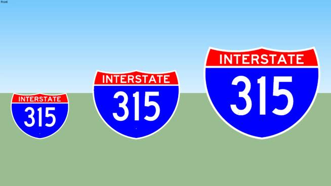 Interstate 315 Sign