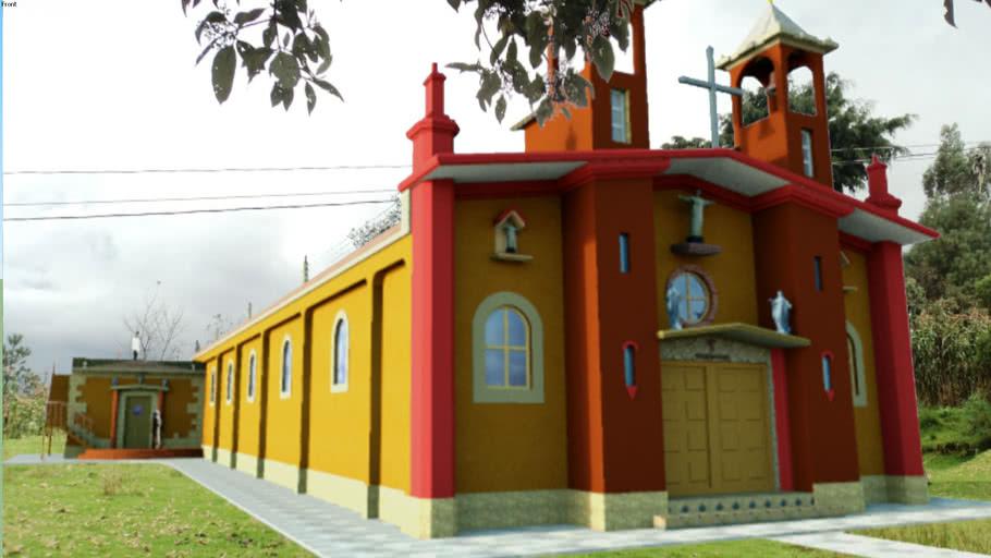 render de iglesia creada en Google Sketchup