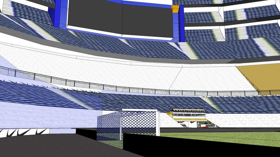 estadio de futbol futurista