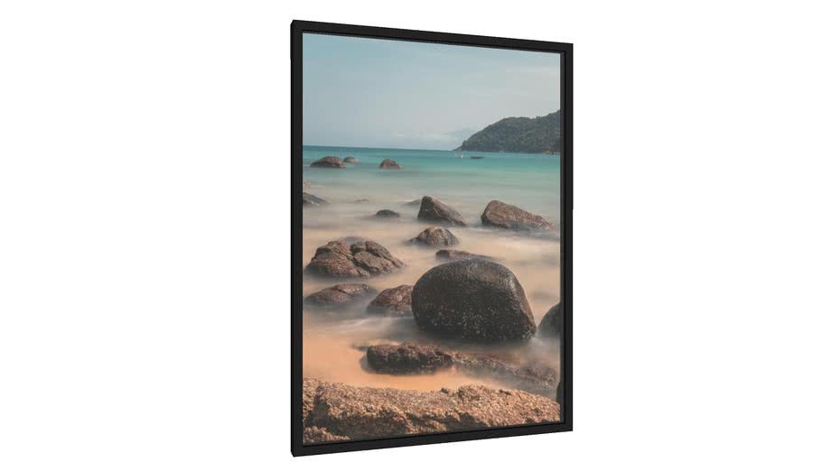 Quadro Pedras, água cristalina, areia, calmaria e mar - Galeria9, por Daniel Lima
