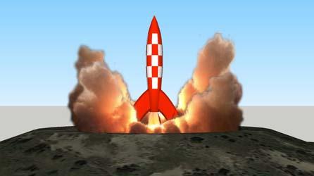 Tintin ─ Destination Moon ─ Rocket
