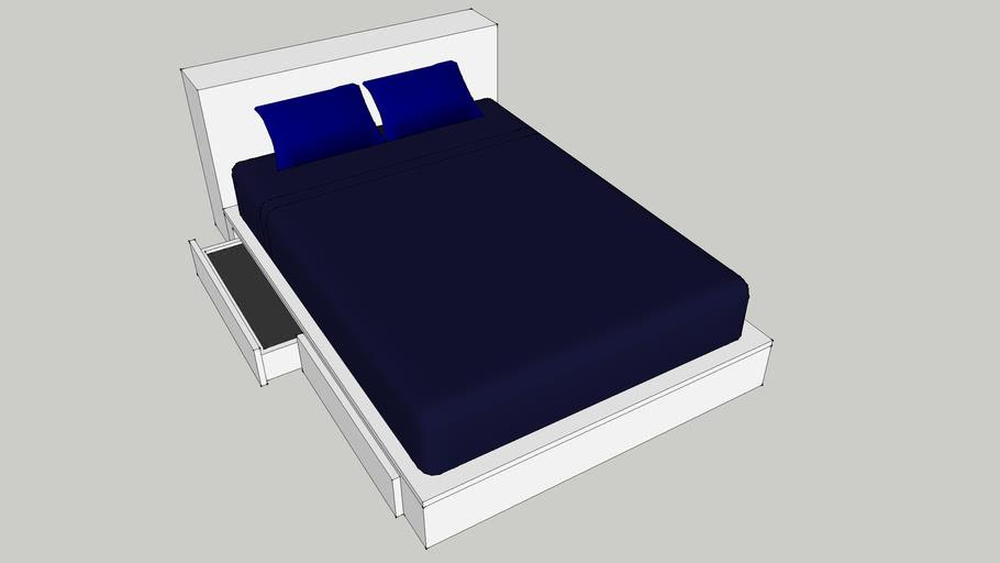 Ikea Brimnes Bed With Storage 3d, Ikea Brimnes Queen Bed With Storage