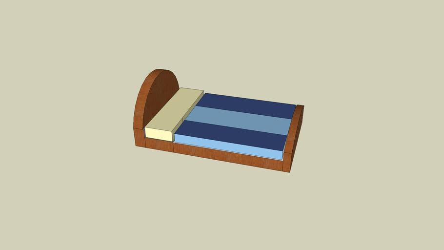 Blue on Blue bed