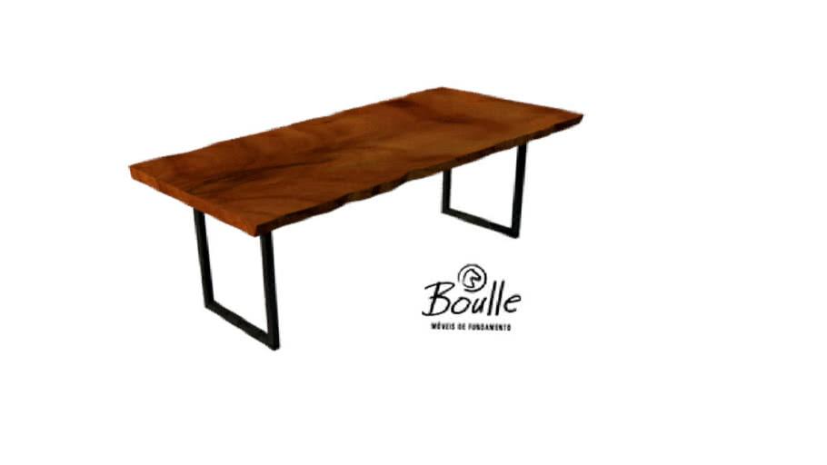 Mesa de jantar Boulle com pés em Inox