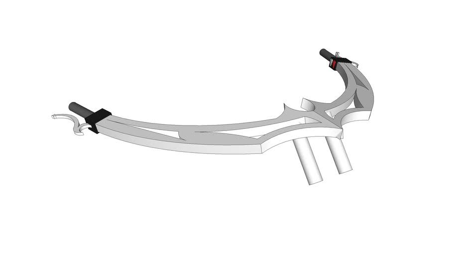 wide chopper handlebars