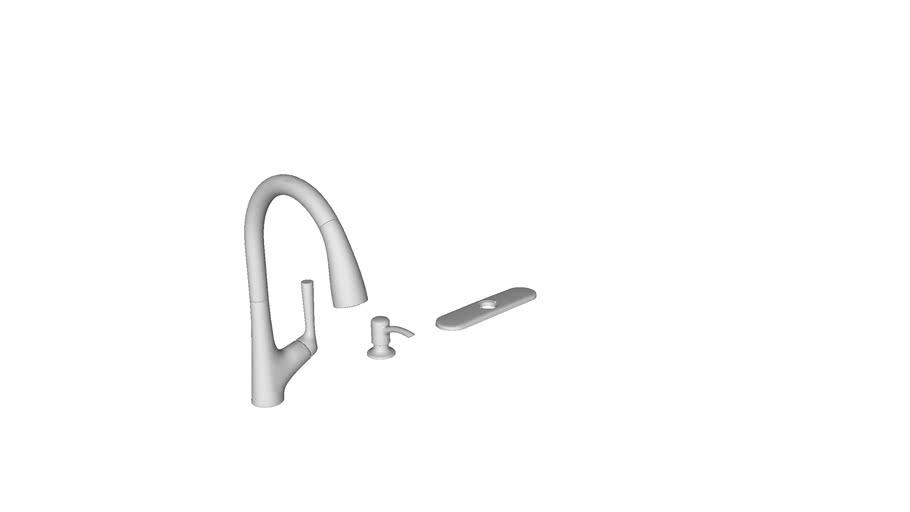K R22968 Sd Elmbrook Tm Pull Down Kitchen Faucet 3d Warehouse