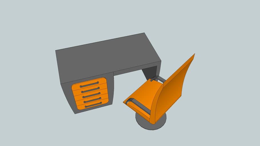 Designer desk and chair