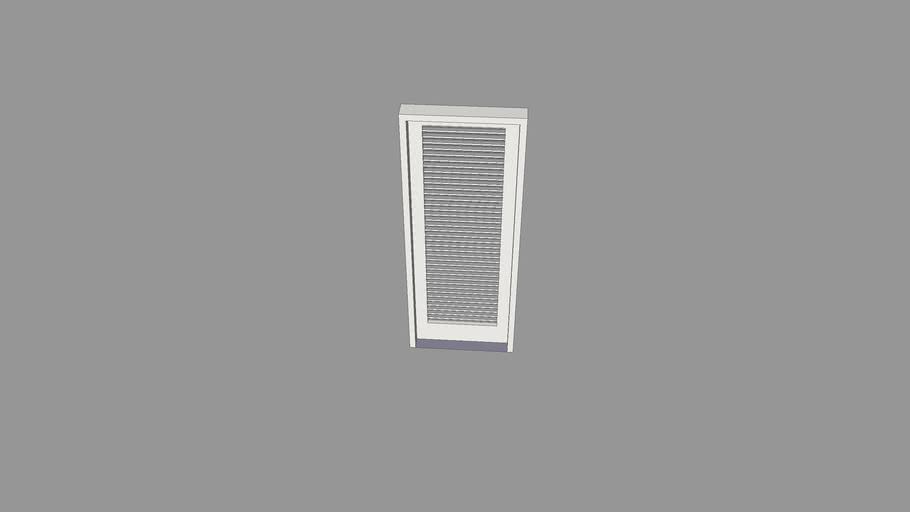 Porta de abrir com veneziana - 90x230