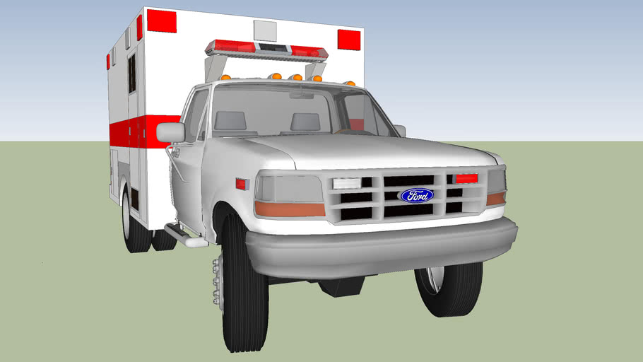 Type 1 ambulance ford f 350 model 1996