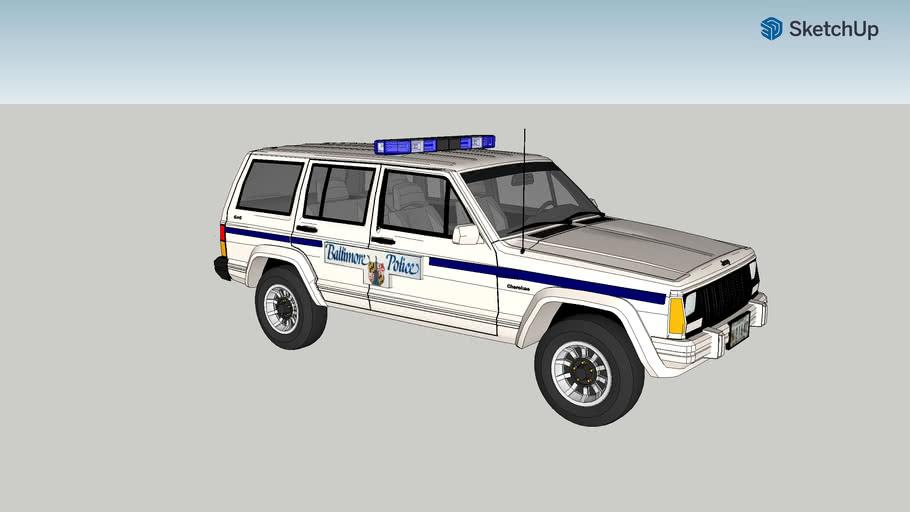 Baltimore City Police Department Jeep Cherokee 1990-1995