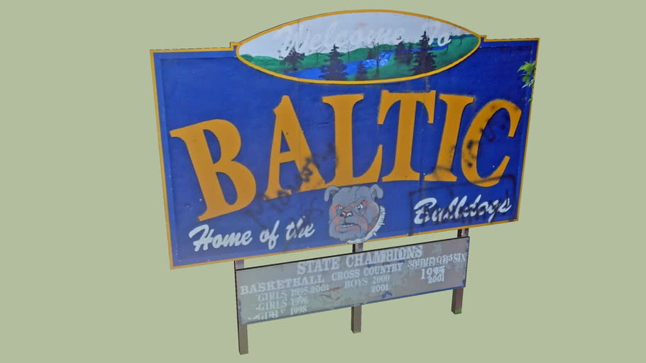 Welcome Sign Baltic, South Dakota