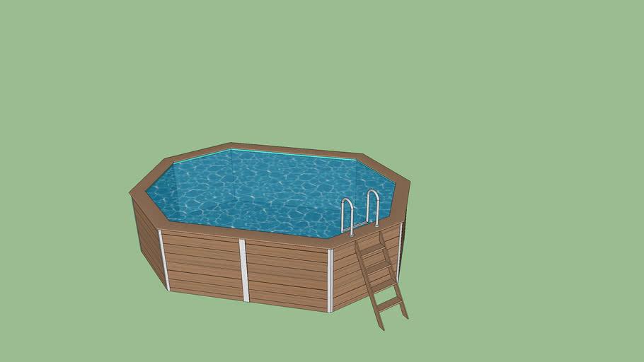 piscine bois composite (composite wood pool/swimming pool)