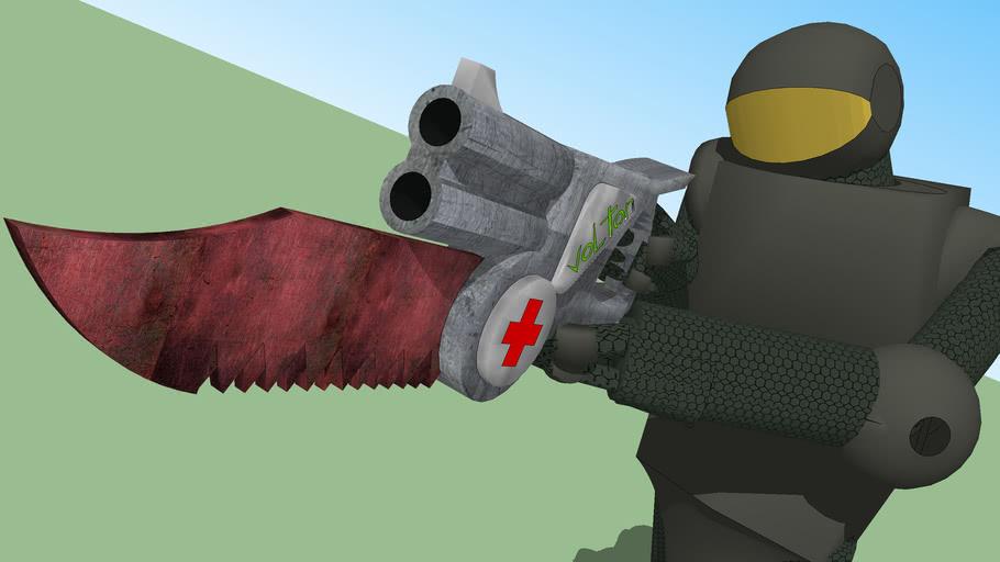 S.I.G.P MEDIC Holding the M.I.S.E.R shotgun