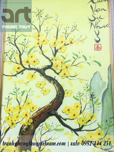 cây mai đào trong bộ tranh tứ quý