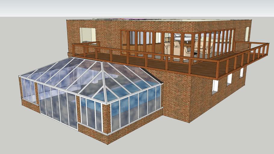 Meekins Pool with New Roof and Balcony