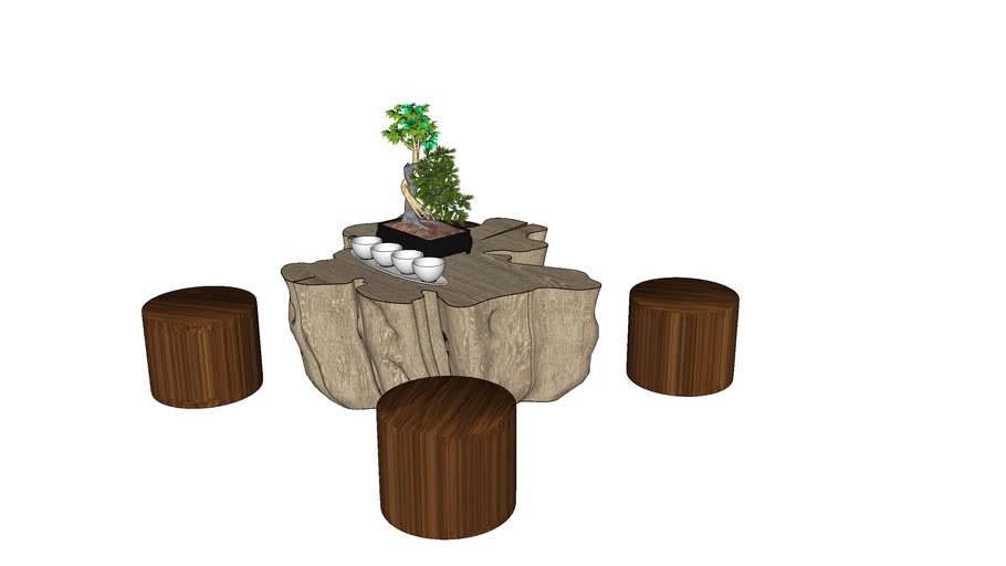 Table basse + tabourets
