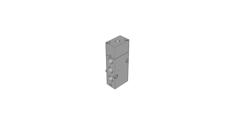 5/2-way pneumatic valve, monostable