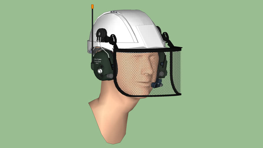 Safety First Series - Hearing Protection - Communications Headset 02 – Cap Style + Shield