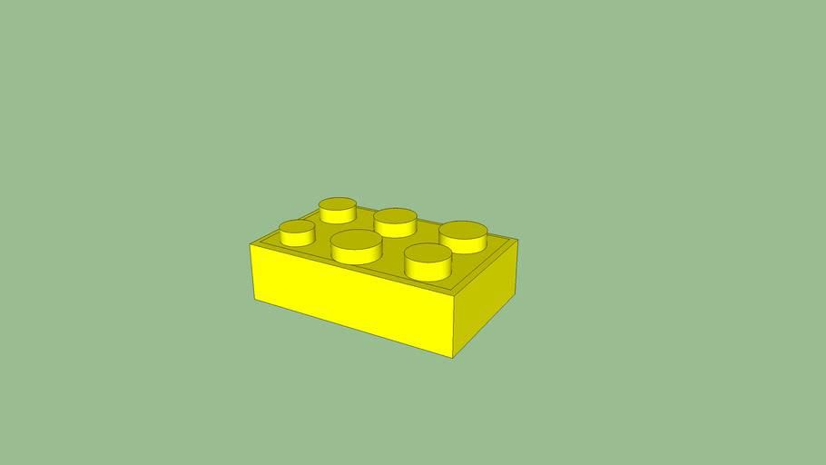 Yellow Lego brick
