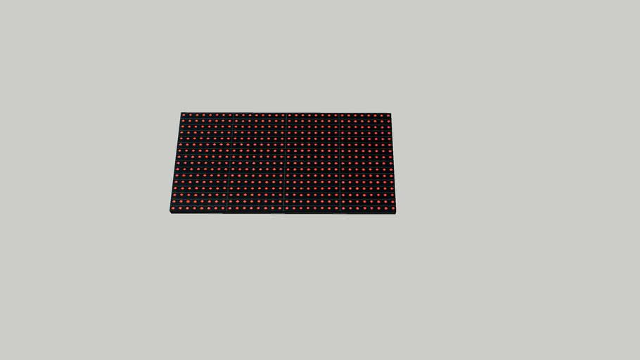 P10 Red module 32x16