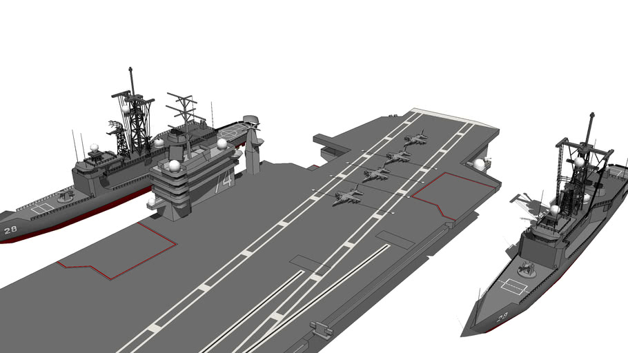 Military_Aircraft Carrier_Nimitz Class_USS John