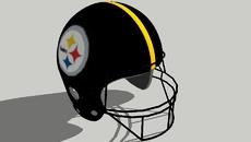Steelers players helmets