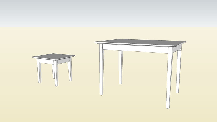 "Tapered Leg Tables from ""New Woodworker's Guide to SketchUp"